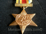 FULL SIZE WW2 AFRICA STAR WITH NORTH AFRICA 1942-43 CLASP REPLACEMENT COPY